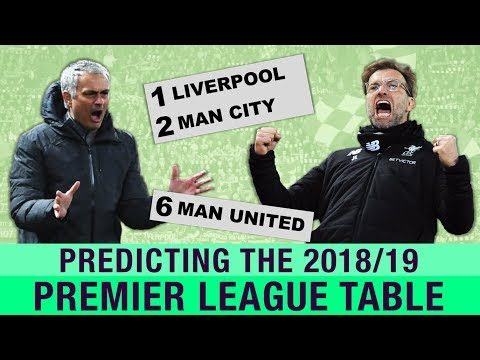 IS THIS OUR YEAR? Predicting The 2018/19 Premier League Table