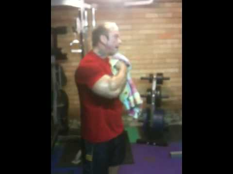 Lee Priest home gym training Jan 27 2010 part 3 of 3
