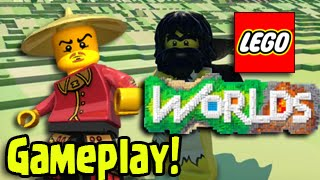 """LEGO Worlds"" - Let's Play OPEN WORLD GAMEPLAY REVIEW WALKTHROUGH, Building a House (Part 1)"
