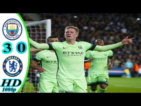 Manchester City vs Chelsea 3-0 All Goals & Extended Highlights (EPL) 2015-16 HD 720p