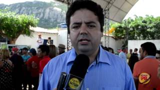 Presidente da Câmara de Vereadores de Vieirópolis, fala da inauguração da rodovia