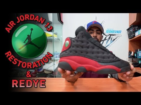 Nike Air Jordan Bred 13s Restoration (cleaning, Suede Redye & More)