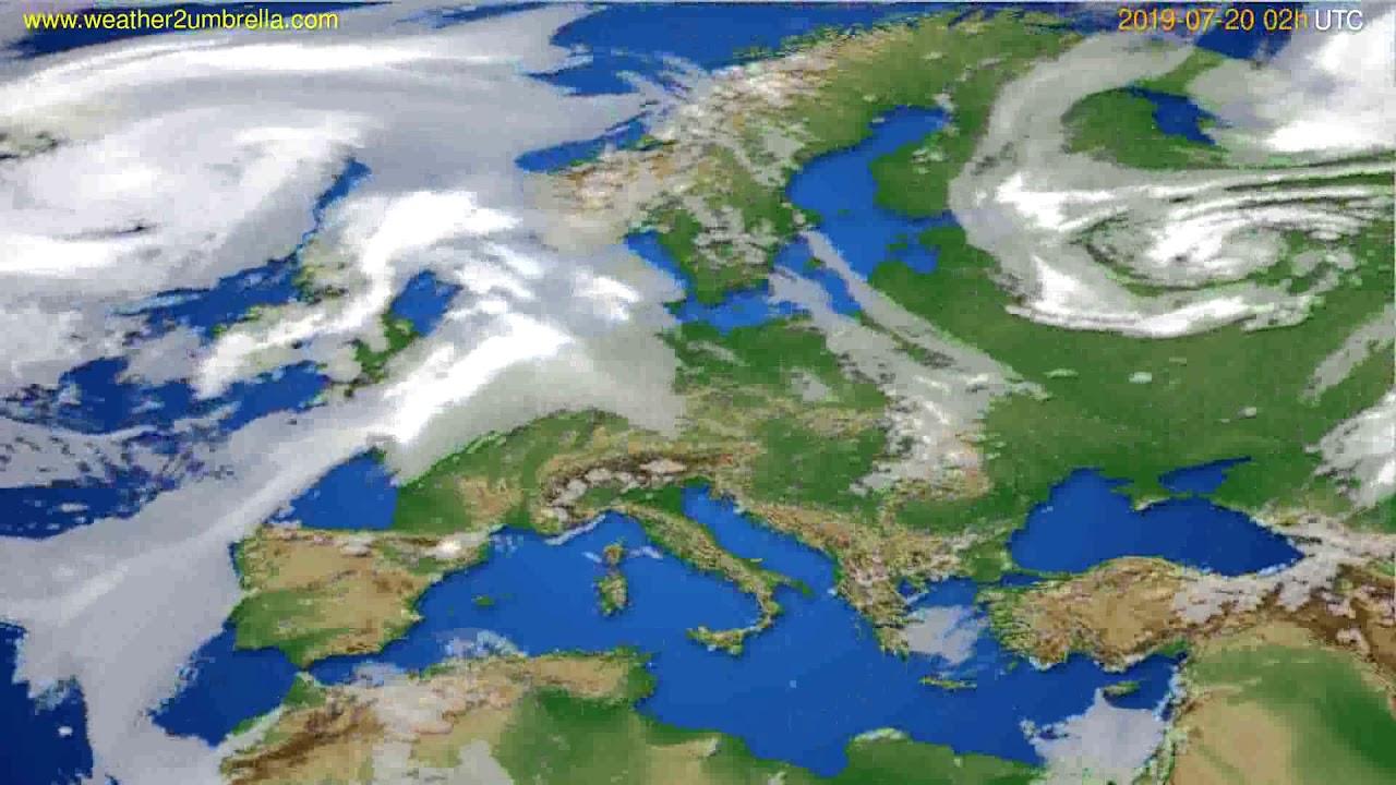 Cloud forecast Europe // modelrun: 12h UTC 2019-07-17