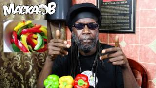 Wha Me Eat Wednesdays'Bell Pepper'  with subtitlesFollow Macka B:https://www.facebook.com/OfficialMackaBhttps://www.instagram.com/officialmackabhttps://twitter.com/mackab http://www.mackab.comCucumba & Wha Me Eat T-Shirts Available at www.mackab.comLyrics:When me seh pepper you think about heatBut a no every pepper hot some of them sweetBell pepper another one wha me eatYet another vegan treatRoast them grill them eat them rawCrunchy texture nice flavourShiny Bright look pon the colourThese Colours are so familiarSlice them put them inna a recipeStuff them fill them to capacityJuice them you see the green one especiallyI add to my green juice very complimentaryTasty crunchy and it healthyVery high inna vitamin CAntioxidants there are plentyFull of nutrients it no emptyDon't miss out that would be a pityThey're not just there to make the food look prettyLook good yes and good for you tooAdd a few inna your menuWhen me seh pepper you think about heatBut a no every pepper hot some of them sweetDisclaimer:The information contained in these topics is not intended nor implied to be a substitute for professional medical advice, it is provided for educational purposes only.Always seek the advice of your physician or other qualified healthcare provider before starting any new treatment or discontinuing an existing treatment.