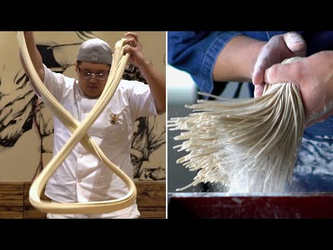 The Art Of Making Noodles By Hand (видео)