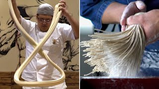 Video The Art Of Making Noodles By Hand MP3, 3GP, MP4, WEBM, AVI, FLV April 2019