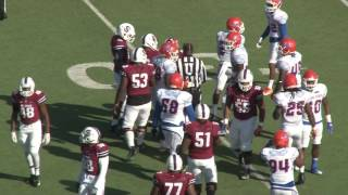 South Carolina State senior running back Joe Thomas Sr., became the oldest person to play football in a NCAA Division I game...