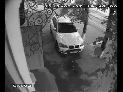 Авария с камеры видеонаблюдения