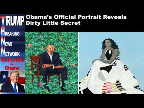 Obama's Official Portrait Reveals Dirty Little Secret