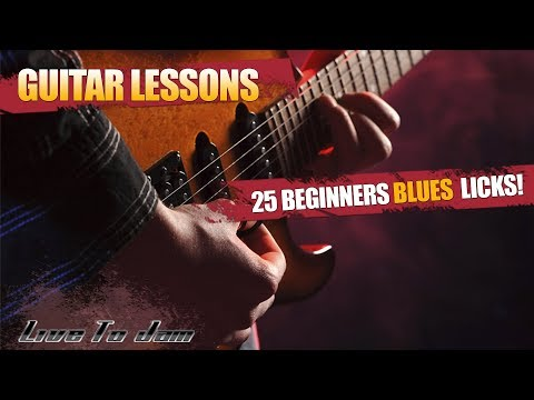 Learn How To Play Blues Guitar Lessons – 25 Beginner Blues Licks Part 1 For Beginners