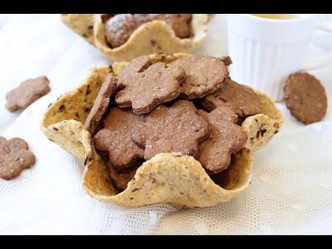 cestini di biscotti al cioccolato - ricetta