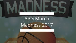 NCAA March Madness 2017 with APG!