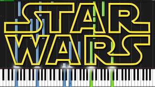 Star Wars Medley [Piano Tutorial] Ноты и М�Д� (MIDI) можем выслать Вам (Sheet music for piano)