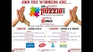 3rd Big Idea Puzzle 2014   The Biggest Inter School Quiz Challenge In Uae