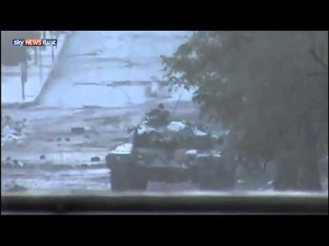 الجيش الحر تدمير دبابة في حي صلاح الدين بحلب