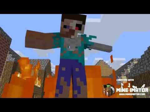 MINECRAFT (Skillet - Monster) Steve and Alex Music video