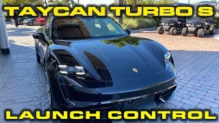 Porsche Taycan Turbo S Launch Demonstration by DragTimes