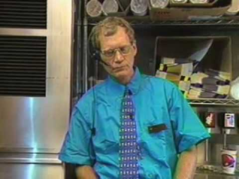 Everyone is talking about Conan visiting Taco Bell. Remember when Letterman worked the drive thru?