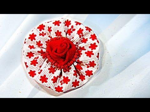 Cómo hacer flores de tela, How to make fabric flowers..