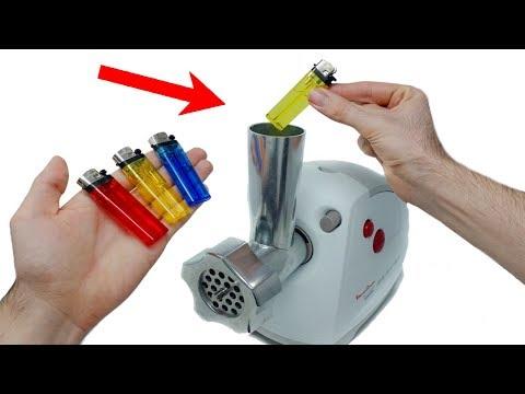 EXPERIMENT: MEAT GRINDER VS LIGHTERS - Thời lượng: 6 phút, 29 giây.