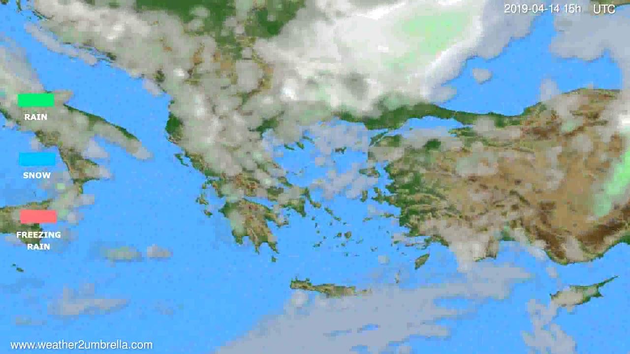 Precipitation forecast Greece // modelrun: 12h UTC 2019-04-11