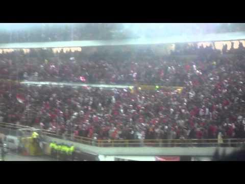 Como siempre alentando a Independiente Santa Fe - La Guardia Albi Roja Sur - Independiente Santa Fe