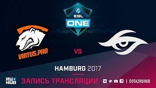 Virtus.Pro vs Secret, ESL One Hamburg, game 1 [v1lat, GodHunt]