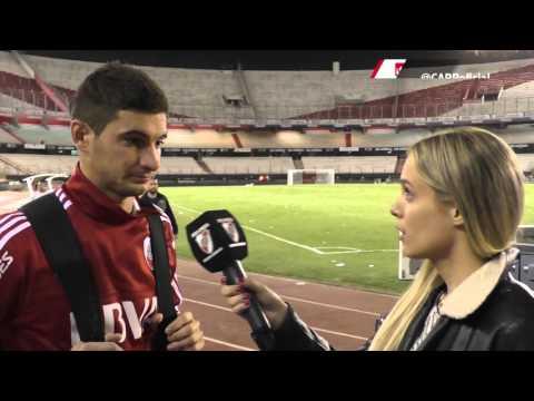 Lucas Alario, tras el empate con Banfield en el Monumental