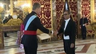 S.M. el Rey recibe las cartas credenciales del nuevo embajador de Cabo Verde