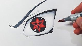 Video How To Draw Sasuke's Eternal Mangekyou Sharingan - Step By Step Tutorial MP3, 3GP, MP4, WEBM, AVI, FLV September 2018