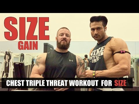 CHEST Triple Threat Workout For SIZE Gain By Guru Mann