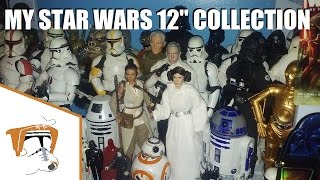 """My Star Wars 12"""" 1/6th Action Figure COLLECTION! (Hasbro, Disney, Sideshow)"""