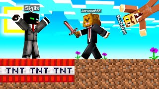 Launching My Friends Into Space With A TNT Sword In Camp Minecraft | JeromeASF