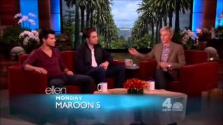 Video Robert Pattinson and Taylor Lautner on Ellen DeGeneres Show - full interview (2012) MP3, 3GP, MP4, WEBM, AVI, FLV November 2018