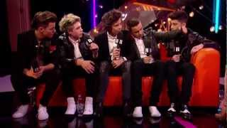 Backstage at the BRITs: One Direction Talks to Laura Whitmore | BRITs 2013