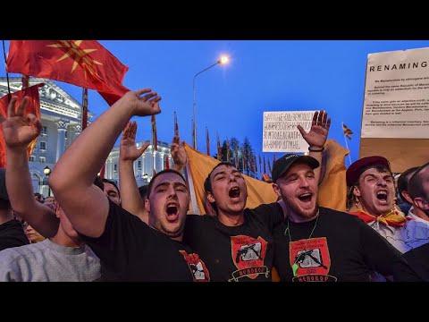 Διαδηλώσεις του VMRO κατά της συμφωνίας των Πρεσπών