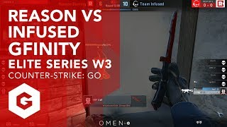Highlights between Reason and Infused from week 3 of the Gfinity Elite Series. Reason and Infused came head to head and at any point either team looked poised to take it but Infused were able to edge it out 2-0.Gfinity Elite Series CSGO Highlight VOD's Playlist:https://www.youtube.com/playlist?list=PL-BwJere_U_kk_mfb-UA89SPSEmaLlF12--------------------------------------------------------------------------------------------------Keep up to date with all that's happening with the Elite Series:https://www.gfinityesports.comDo you have what it takes to compete on the big stage? Join our Challenger division:https://challenger.gfinityesports.com/Looking for other games? Check out our other supported games:http://www.gfinity.net