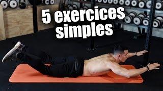 5 exercices simples pour être en forme en 5min !