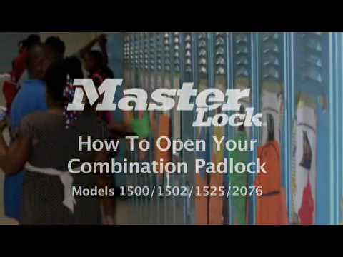 Screen capture of Master Lock Model 1500, 1502, 1525 and 2076 Locker Lock - Student Training Video