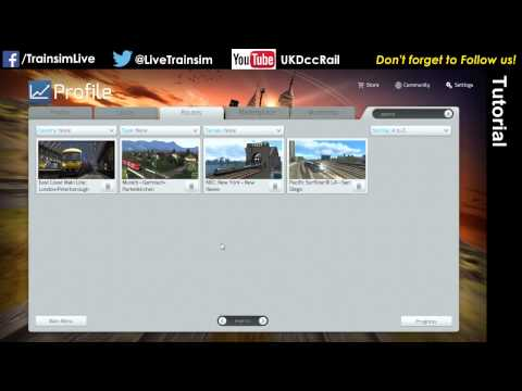 Train Simulator 2015 Tutorial - Navigating the Menu System