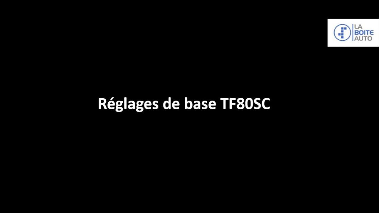 Procédure apprentissage / réglage de base TF-80SC