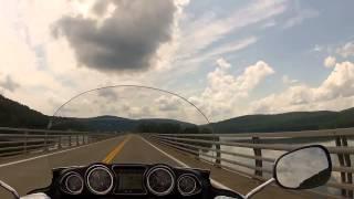 9. Riding my Kawasaki Vulcan 1700 Voyager - Cannonsville Reservoir Ride 06 30 13