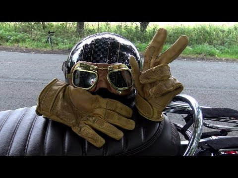 Triumph T120, Classic/vintage style BOBBER motorcycle gloves from GOLDTOP ENGLAND! latest design!