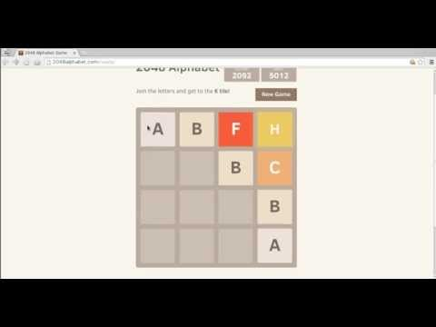Video of 2048 Alphabet