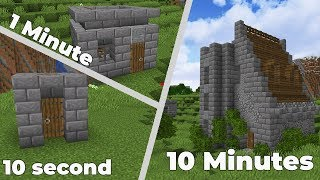 MINECRAFT CASTLE: 10 Minutes, 1 Minute, 10 Seconds Challenge!