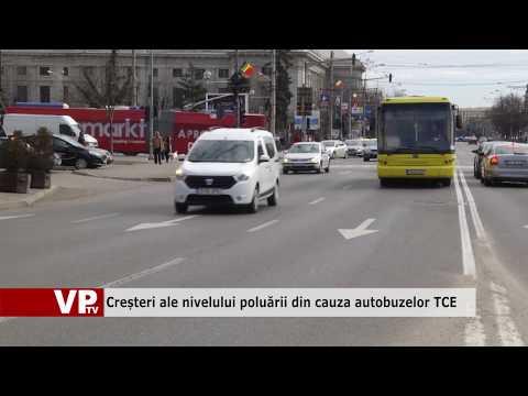 Creșteri ale nivelului poluării din cauza autobuzelor TCE