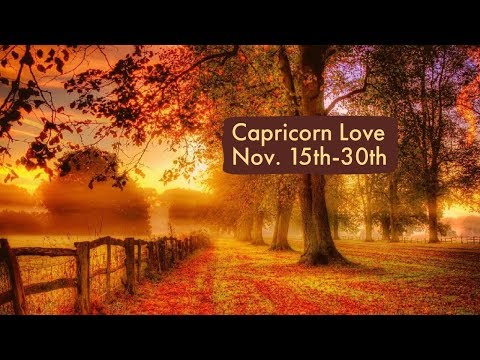 "Capricorn Love:  Nov. 15th-30th  ""Offers, proposals, and gifts, but patience is required."""