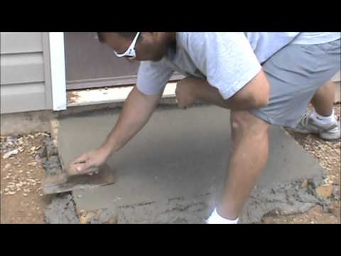 Concrete - Learn how to form up concrete, pour concrete, and finish it. DIY Concrete. This method could be used for a shed slab.