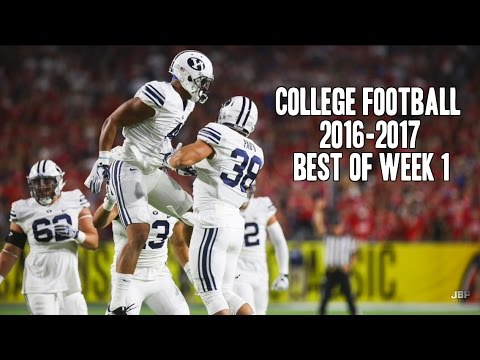 Best of Week 1 of the 2016-17 College Football Season ᴴᴰ