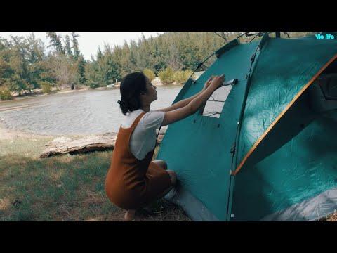 Đi Cắm Trại Trong Rừng Thơ Mộng Cùng Vie Girl